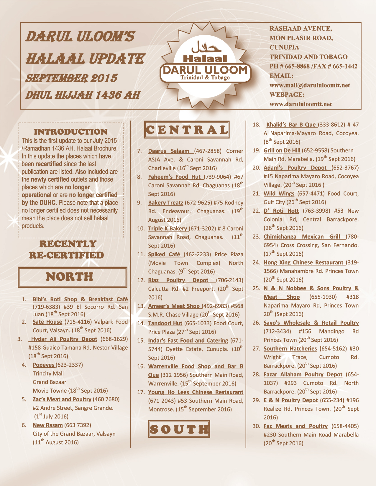 Darul Uloom Halaal Update September 2015 Flyer-01