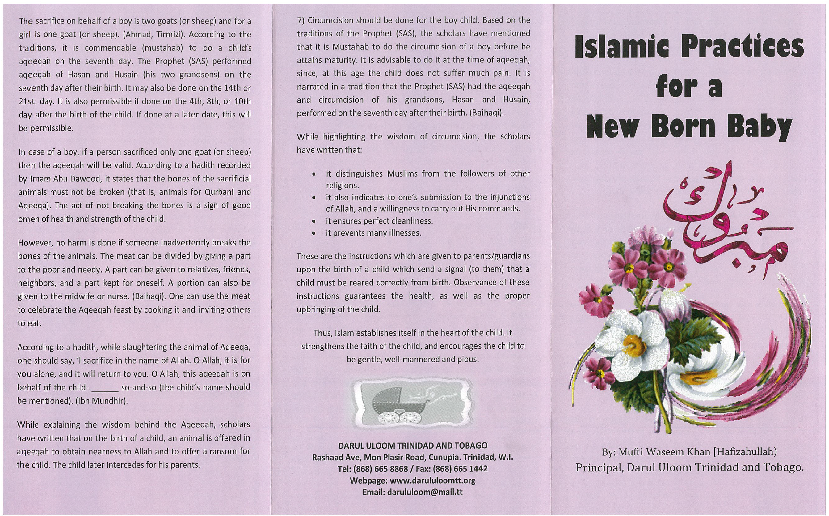 Islamic Practices for a new Borm Baby (Palm Flex)